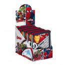 Geldbörse 9x11cm 2-fach sortiert im Display Marvel