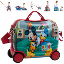 Reisekoffer /  Sitz-Trolley - Disney Mickey ABS