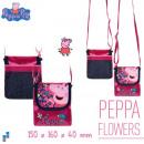 Umhängetasche mit Klappe 16cm Peppa Pig Flowers