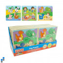 wholesale Puzzle: Wooden Puzzle 3  assorted with display