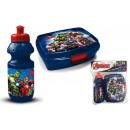 Großhandel Lizenzartikel: Brotdose mit  Trinkflasche Marvel Avengers