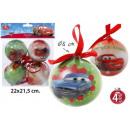 Décorations de Noël Arbre Ø8cm 4 pièces Cars