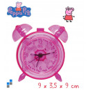 Tischuhr mit Alarm transparent 9cm Peppa Pig