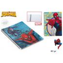 grossiste Fournitures scolaires: Cahier A5 carré 60  feuilles Spiderman avec une spi
