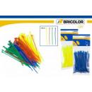 groothandel Tuin & Doe het zelf: Kabelbinders kleur  in blister 100mm 100 stuks