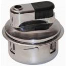 grossiste Briquets: Ronde métal léger rechargeable