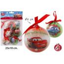 Décorations de Noël Arbre Ø6cm 6 pièces Cars