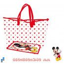 Bolsa de la compra 66cm transparente Disney Mickey