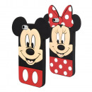 grossiste Articles sous Licence: Silicone Téléphone  Case 2 assortis Mickey / Minnie
