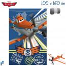 Polaire couverture 150x100cm Disney Planes
