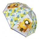 Parapluie transparent Minion Ø90cm