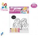 Puzzle 20-teilig mit Stifte zum bemalen Princess