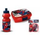Großhandel Lizenzartikel: Brotdose mit  Trinkflasche Marvel Spiderman