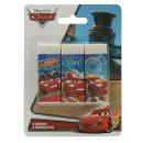 Eraser Set 3 pièces en blister Disney Cars