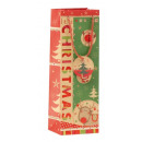 Bolsa de regalo de Navidad renos B 12 x 9 x 35 cm