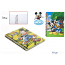 Exercise book A5 checkered 70gr with spiral Mickey