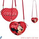 Bolsos de hombro del corazón 3D 20cm Disney Minnie