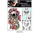 Großhandel Piercing / Tattoo: Brett temporäre Tattoos 23cm # 2