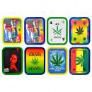 groothandel Food producten: PVC Tobacco box   Rasta  11.5cm diverse modellen