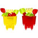 wholesale Garden & DIY store: Set sand toys 6  pieces 18cm assorted castle