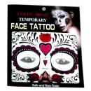 Großhandel Piercing / Tattoo: Gesicht temporäre  Tätowierung # 9  Mask  14cm