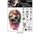 Großhandel Piercing / Tattoo: Brett temporäre Tattoos # 3 23cm