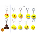 Keychains Smiley Ø 7cm assorted models