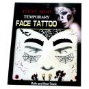 grossiste Piercing / Tatouage: Tatouage  temporaire visage #8  Mask  14cm
