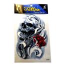 Großhandel Piercing / Tattoo: Temporäre  Tätowierung # 7  Skull  20cm