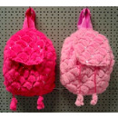 Plush back bag 26cm assorted colors and rhinestone
