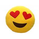 groothandel Kussens & Dekbedden: Kussen fleece Smiley Lovers Ø 35cm