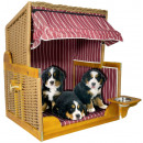 wholesale Parasols & Pavilions: Poly rattan cabin  shelter for Baltic dogs