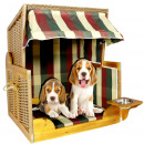 wholesale Parasols & Pavilions: Poly rattan cabin  shelter for Baltic red dog