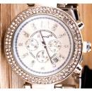 Watch steel bracelet with rhinestone