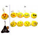 Keychains Smiley Ø 11m assorted models