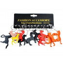Horse key ring PVC assorted colors
