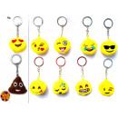 Keychains Smiley Ø 9cm assorted models