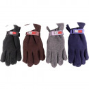 wholesale Gloves: Man fleece gloves assorted colors