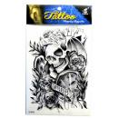 Großhandel Piercing / Tattoo: Temporäre  Tätowierung # 3  Skull  20cm