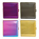 Premium metal cigarette case assorted colors