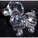 Glas Kristall Hund Figur klein