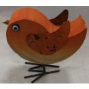 Dekovogel aus Holz Orange