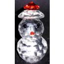 Vasos de cristal del muñeco de nieve