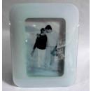 Bilderrahmen aus Glas weiß