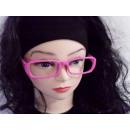 Sekräterinbrille ohne Glas pink