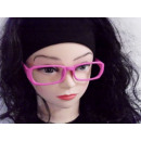 Sekräterinbrille sans verre rose