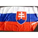 bandera de Eslovaquia con 2 ojales
