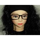Sekräterinbrille noir sans verre