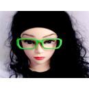 Sekräterinbrille ohne Glas grün