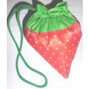 Einkaufstasche in Erdbeer Motiv